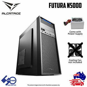 PC Computer Case USB3.0 ATX Tower Case with 225W PSU Alcatroz Futura N5000 Pro