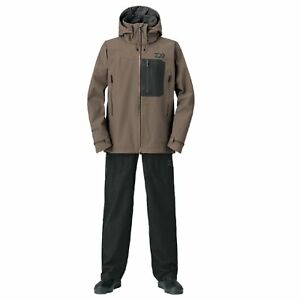 Daiwa Gore-Tex Product Pack Light Rain Suit DR-1908 BROWN Fishing Japan NEW