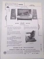 Sams Photofact Folder Radio Parts Manual Emerson Chassis 120966 Record Changer