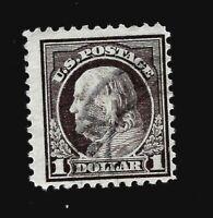 US 1917 Sc # 518 $1.00  Benjamin Franklin - Used - Vivid Color - Light Cancel