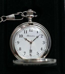 Ravel Pocket Watch - Guarantee - UK Stock - Free Engraving