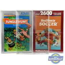 10 Game Box Protector for Atari 2600 5200 7800 STRONG 0.5mm Plastic Display Case