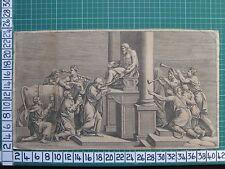Date du 1773 antique print ~ sacrifice de bull statue de dieu jupiter