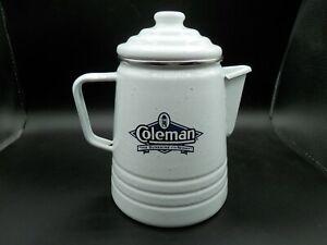 Nice Vintage Coleman Enamel Percolator Camping Coffee Pot