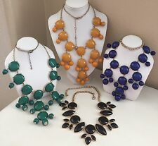 Bubble Bead Chandelier Bib Necklace Lot Colorful Fashion Statement Jewelry