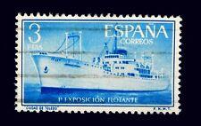 Spanish Stamp /  Boat -Floating Expo /  Toledo /  Blue Ship / 3