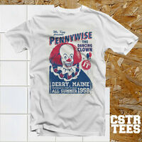 Stephen King's IT Pennywise Circus Poster T Shirt Horror Movie Funny cool retro