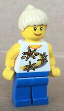 LEGO ®-Minifigur City Town Yellow Flowers Mädchen aus Set 8401 - cty0130 cty130