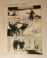 Outer Limits #4 original comic art  1964 NUCLEAR BOMBING CITY ALIENS DELL