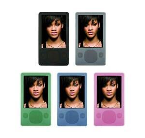 for Microsoft Zune 80GB 120GB MP3 Player Soft Silicone Rubber Skin Cover Case