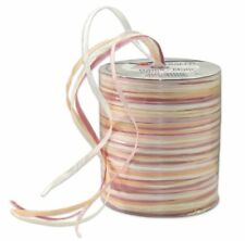 Prasent 50 m Rayon Raffia Spool Ribbon, White  Beige Multi-Colour
