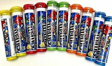 """10 EMPTY M&M's 5-5/8"""" STORAGE CANDY TUBES - 5 DIFFERENT COLORS FREE SHIPPING"""