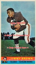 """JIM BROWN 1959 Football CLEVELAND = POSTER Trading Card 9 SIZES 17"""" - 3 FEET"""