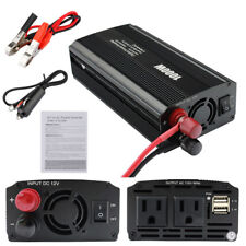 1000W US Plug Car Auto Power Inverter DC 12V To AC 110V Dual USB Adapter Charger
