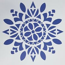 A4 Flexible Stencil *MANDALA CIRCLE* Painting Embossing Round Pattern Design # 2