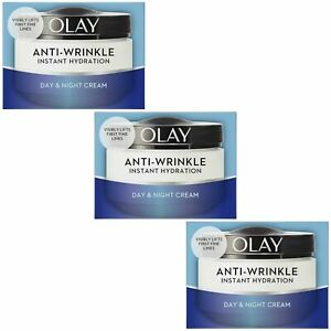3 x Olay Anti Wrinkle Instant Hydration Day & Night Cream