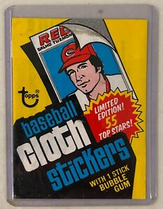 1977 Topps Baseball Cloth Sticker Wrapper