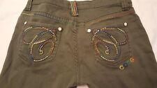 Coogi Greeen Skinny Jeans Size 9/10 -zippered ankle WAIST 32 INSEAM 29