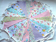 Bunting Fabric Chic & Shabby Floral Vintage handmade single sided Wedding Party