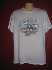 Kenneth Cole Reaction Men's White Graphic T-shirt - Size Small - NWT