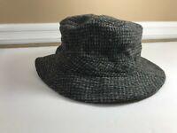LL Bean Mens Harris Tweed 100% Scottish Wool Goretex Bucket Hat Size Large Cap