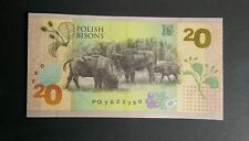 POLAND TEST NOTE *POLISH BISONS 20* 2019 UNC