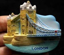 Tower Bridge Iconic London Symbol 3D Fridge Magnet England  UK Britain English