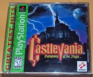 Castlevania: Symphony of the Night (PlayStation 1, 1998) PS1 CIB Greatest Hits
