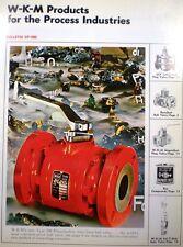 W-K-M WKM Catalog DynaSeal Ball Valve BLUE ASBESTOS Packing ACF Industries 1966