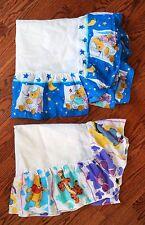 Vintage 90's 1994 Disney Winnie The Pooh Bear Fabric Crib Skirt Dust Ruffle Lot