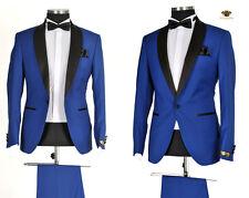 *903* Hochzeitsanzug 4-teiliger Designer Herrenanzug - edler Anzug in Blau Gr.52