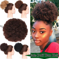 Large Afro Ponytail Puff Drawstring Wrap Synthetic Curly Hair Bun Updo Chignon J