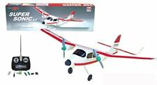 """20"""" Wingspan Super Sonic RC Plane w Twin Motors Remote Control Christmas Toy SS4"""