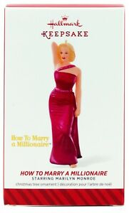 Marilyn Monroe How to Marry a Millionaire NEW Hallmark 2014 Ornament Pink Gown