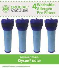 4 Replacements Dyson DC39 Washable & Reusable PreMotor Filters Part # 923413-01