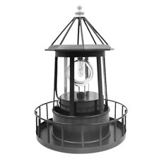 Lighthouse Solar LED Light Garden Outdoor Rotating Beam Sensor Beacon Lamp