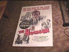 HOODLUM 1951 ORIG MOVIE POSTER LAURENCE TIERNEY CRIME GREAT