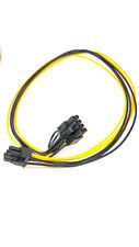 """Copper 18AWG, 6 to 8pin, male to male 19""""Power Cable for GPU Mining Power Supply"""