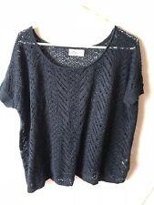 Hollister XS Small Sweater Knit Cotton Acrylic Blend Short Sleeve Crochet