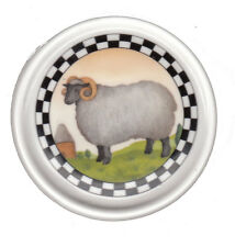 Ram Sheep Crown Trent Annandale Farm Ceramic Coaster Cup Lid Kitchen Dining New