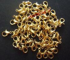 15pz moschettoni  colore oro 10x6mm
