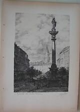 1936 MILANO SAN GOTTARDO VISTO DAL VERZIERE (Via Lombroso) Litografia A. Belli