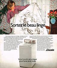PUBLICITE  1976   LINCOLN  lave linge  machine à laver