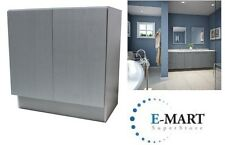 "30"" European Style Door Bathroom Cabinet Vanity Silver Grey Cotton Pattern"