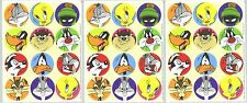 Looney Tunes Stickers 1997 Bugs Bunny Daffy Duck Tweety Wile Coyote 3 Sheets!