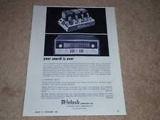 McIntosh Ad, 1963, 240 Tube Amp, MX110 Pre/Tuner