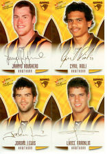 2009 Select AFL Champions Gold Foil Printed Signature Team Set (4):Hawthorn