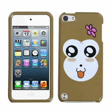 iPod Touch 5 / 6 Gen - HARD SNAP ON PROTECTOR CASE COVER BROWN PINK BABY MONKEY