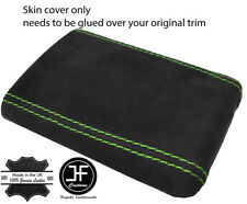 GREEN STITCHING REAL SUEDE ARMREST COVER FITS SUBARU IMPREZA WRX STI 2001-2004