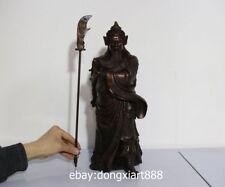 17 China War God Soldier Warrior Bronze Dragon Guan Gong Guan Yu YunChang Statue